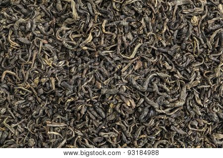 background texture of popular Chinese Chun mee green tea tea