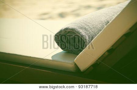 Towel on sunbed