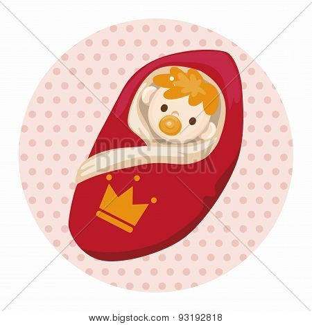 Royal Theme Prince Baby Elements Vector,eps