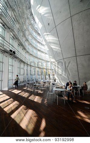 Tokyo, Japan - November 23, 2013: Japanese People Visit National Art Center In Tokyo.
