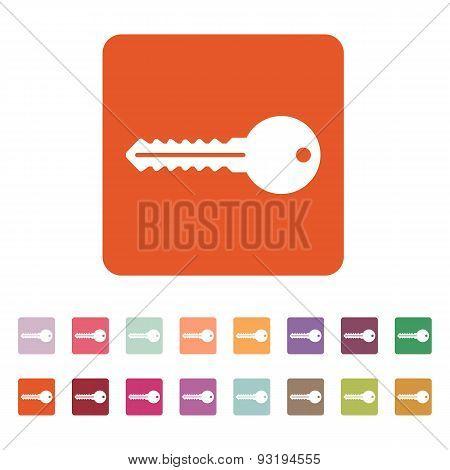 The Key Icon. Key Symbol. Flat.