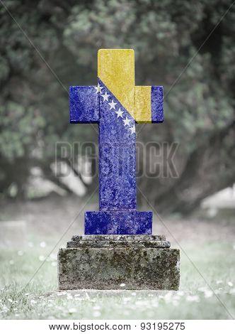 Gravestone In The Cemetery - Bosnia