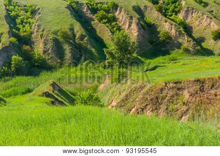 Soil erosion in country area