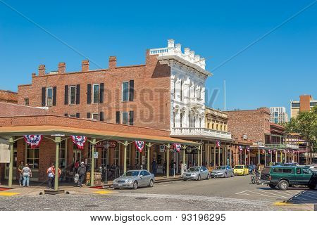 Buildings In Old Sacramento Town