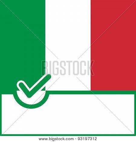 Voting Symbol Italy Flag