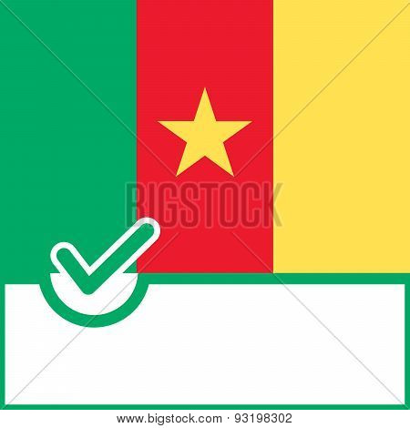 Voting Symbol Cameroon Flag