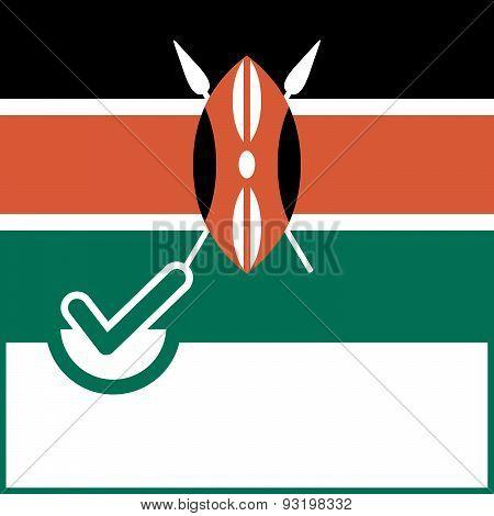 Voting Symbol Kenya Flag