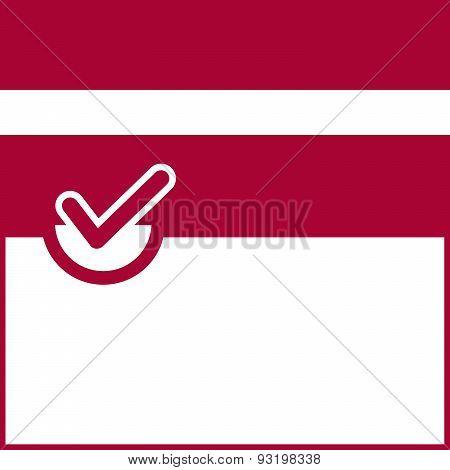 Voting Symbol Latvia Flag