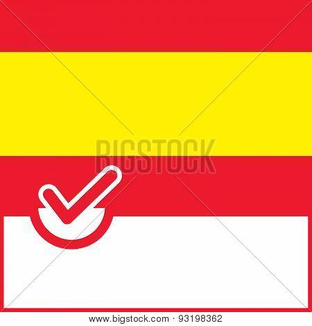 Voting Symbol Spain Flag
