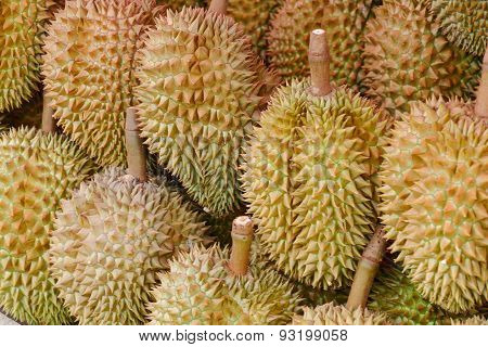 Durian Fruit On Shelf