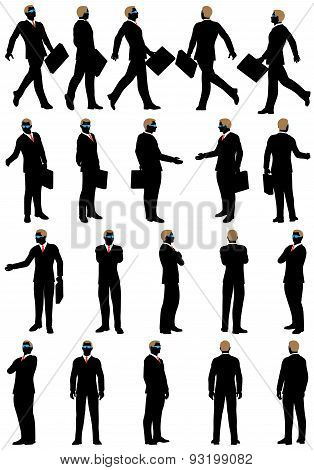 Business Silhouette Set