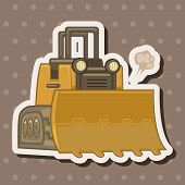 stock photo of excavator  - Transportation Excavator Truck Theme Elements - JPG