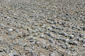pic of cobblestone  - Industrial background  - JPG