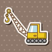 foto of excavator  - Transportation Excavator Truck Theme Elements - JPG