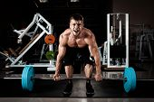 pic of lifted  - Muscular Men Lifting Deadlift In The Gym - JPG
