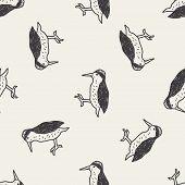 stock photo of pecker  - Woodpecker Doodle - JPG