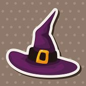 picture of witch  - Witch Hat Theme Elements - JPG