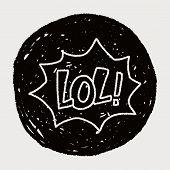 stock photo of lol  - Lol Doodle - JPG