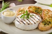 picture of baguette  - Grilled camembert with Dijon mustard and herbs baguettes - JPG