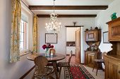 stock photo of nice house  - interior of old house - JPG
