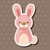 stock photo of chinese zodiac  - Chinese Zodiac Rabbit Theme Elements - JPG