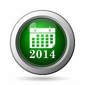 picture of calendar 2014  - 2014 calendar icon - JPG