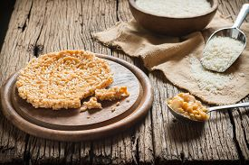 picture of crispy rice  - Crispy rice with topping coconut sugar sauce - JPG