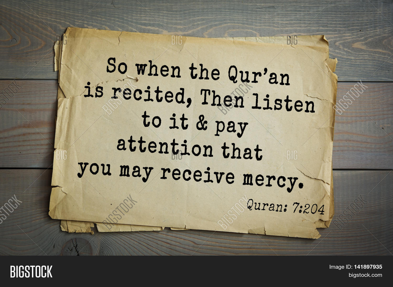 Quotes Quran Islamic Quran Quoteswhen Quran Image & Photo  Bigstock