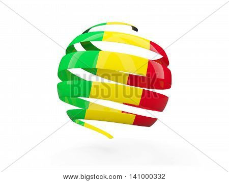 Flag Of Mali, Round Icon