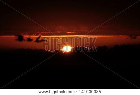 Sunset Lights Up The Heavens