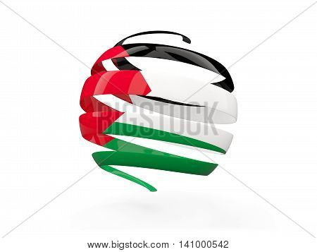 Flag Of Palestinian Territory, Round Icon