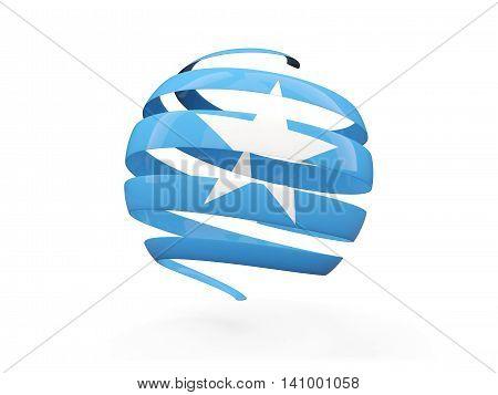 Flag Of Somalia, Round Icon