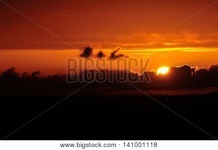 Cloud Over Sunset