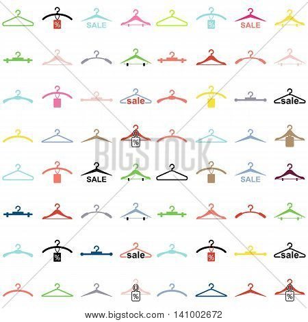 Abstract  Hanger Seamless Pattern Or Background