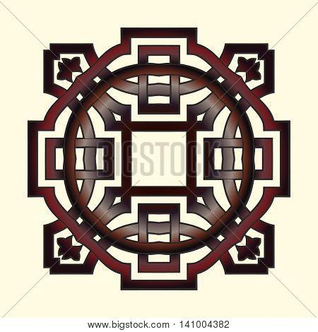 Vector Illustration of Celtic knot motif Oriental Design Elements