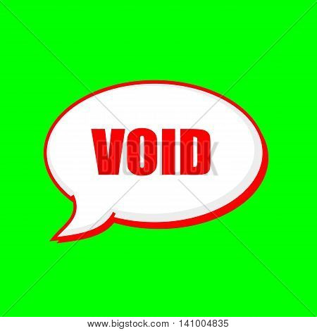 void red wording on Speech bubbles Background Green