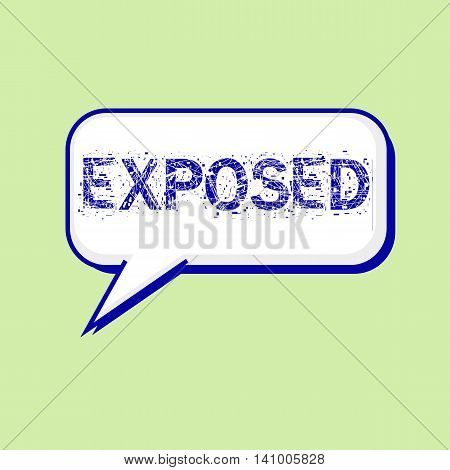 exposed blue wording on Speech bubbles Background Green-White