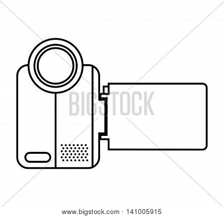 video camera film handy icon vector illustration design