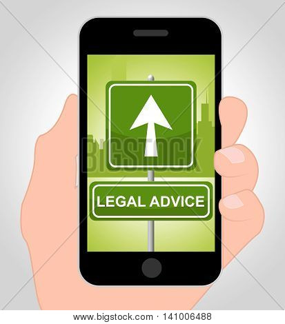 Legal Advice Online Indicates Mobile Phone And Cellphone