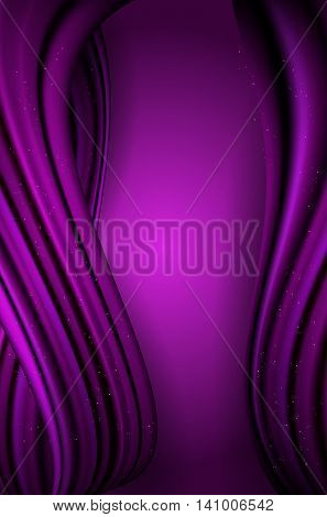 Abstract Violet Wavy Vertical Background