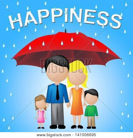 Family Happiness Means Relative Sibling And Parents