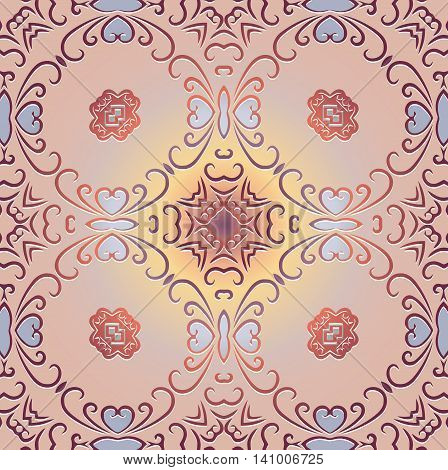 Tribal art ethnic seamless pattern. Ethno ornament. Cloth design wallpaper wrapping