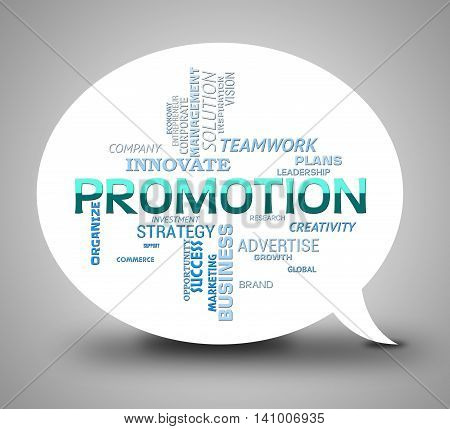 Promotion Bubble Represents Discounts Communication And Dialog
