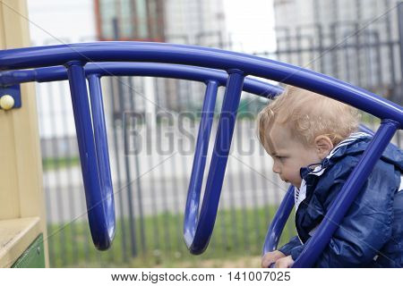 Portrait Of A Child At Playground
