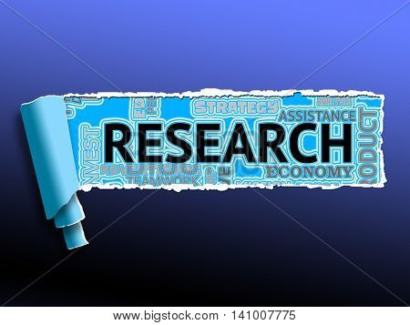 Research Word Indicates Information Investigation And Exploration