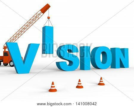Build Vision Indicates Future Building And Plans 3D Rendering