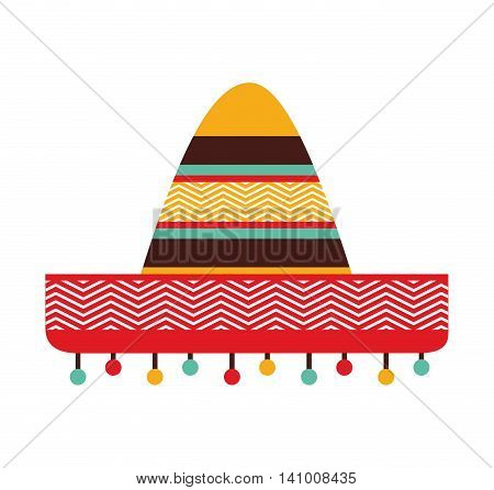 hat mexican culture icon vector illustration icon