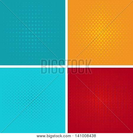 Dotted, Pop Art Background. Symbolic pop art background of 1960s. Comic design graphic halftone pop art background. Dot color bubble element blank communication set. vector pop art pattern background.