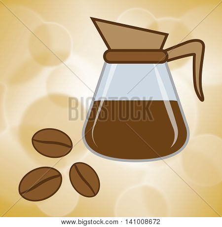 Fresh Coffee Means Restaurant Unprocessed And Caffeine