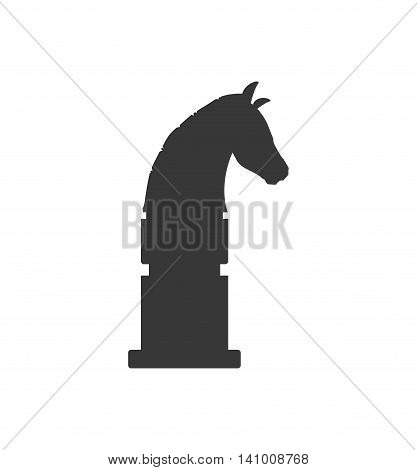 horse chess game strategy hobby icon. Isolated and flat illustration. Vector graphic